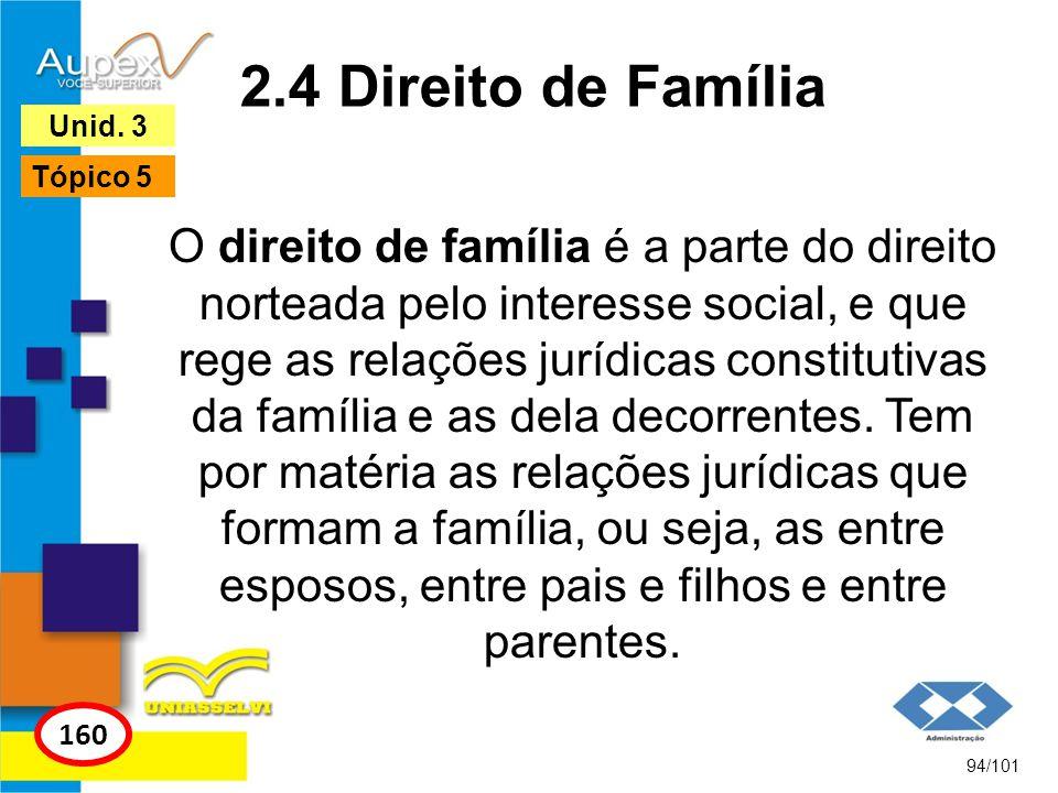 2.4 Direito de Família Unid. 3. Tópico 5.