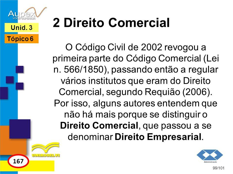 2 Direito Comercial Unid. 3. Tópico 6.