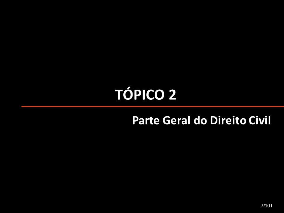 TÓPICO 2 Parte Geral do Direito Civil 7/101