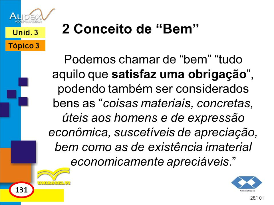 2 Conceito de Bem Unid. 3. Tópico 3.