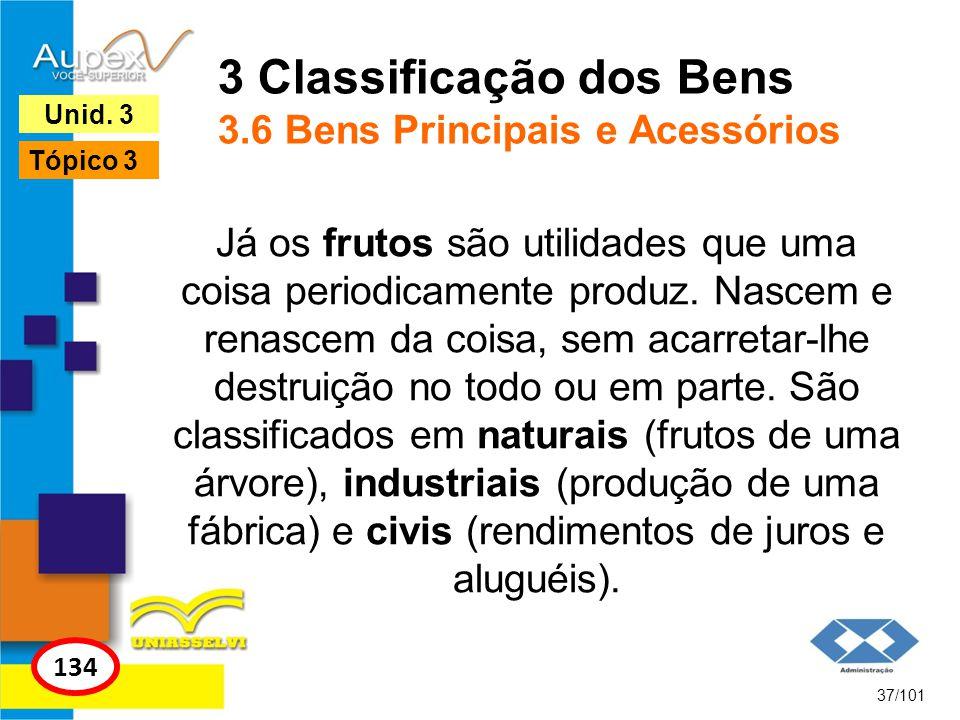 3 Classificação dos Bens 3.6 Bens Principais e Acessórios