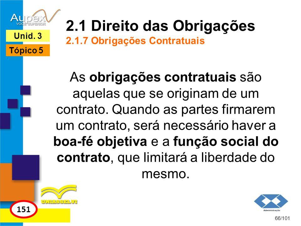 2.1 Direito das Obrigações 2.1.7 Obrigações Contratuais