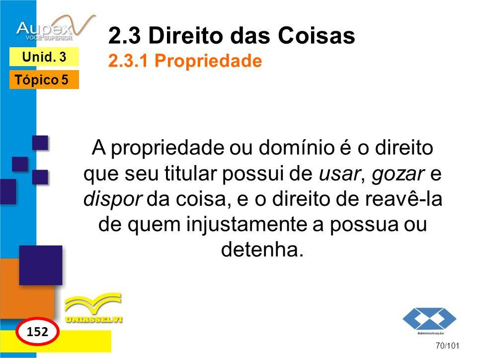 2.3 Direito das Coisas 2.3.1 Propriedade