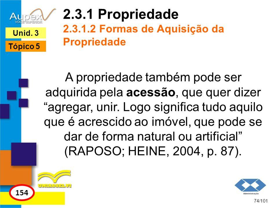 2.3.1 Propriedade 2.3.1.2 Formas de Aquisição da Propriedade