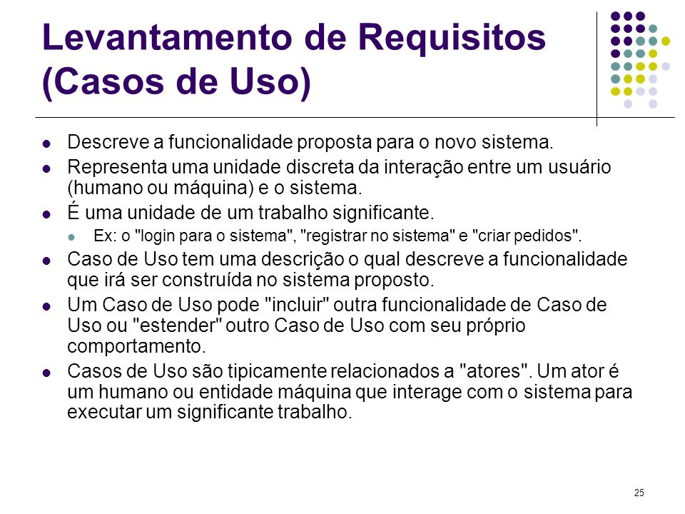 Levantamento de Requisitos (Casos de Uso)