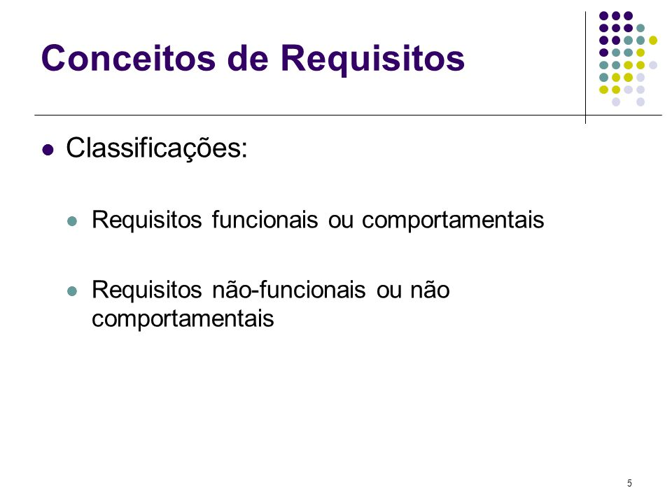 Conceitos de Requisitos