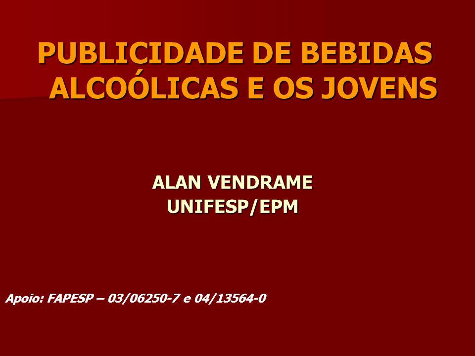 PUBLICIDADE DE BEBIDAS ALCOÓLICAS E OS JOVENS