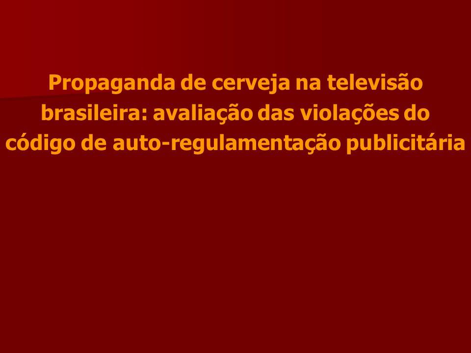 Propaganda de cerveja na televisão brasileira: avaliação das violações do código de auto-regulamentação publicitária