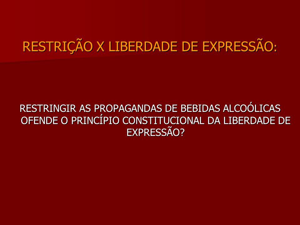 RESTRIÇÃO X LIBERDADE DE EXPRESSÃO: