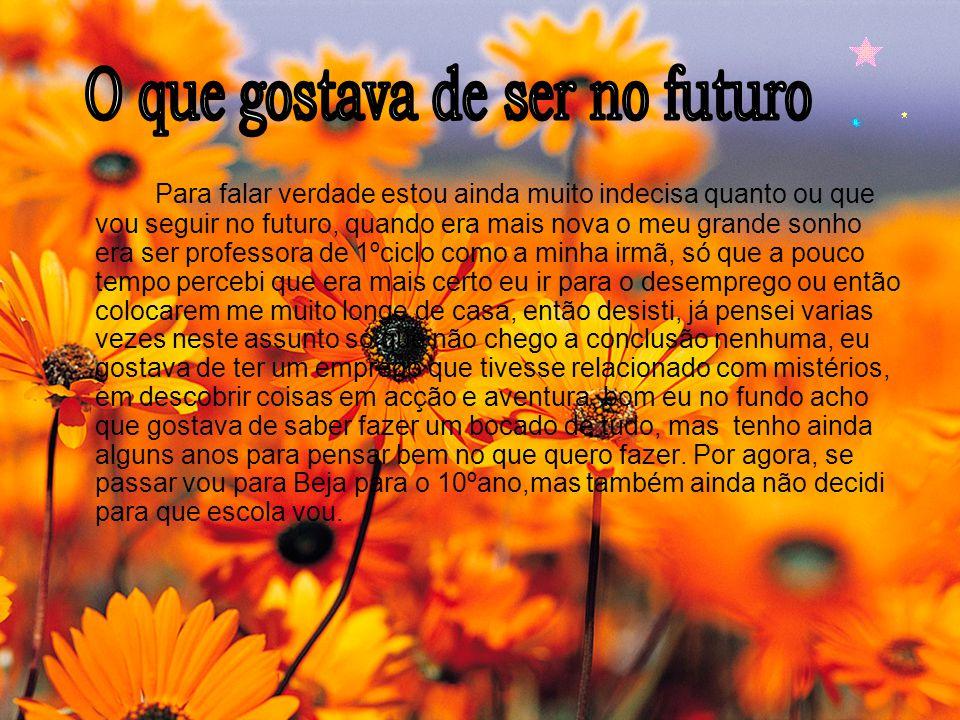 O que gostava de ser no futuro
