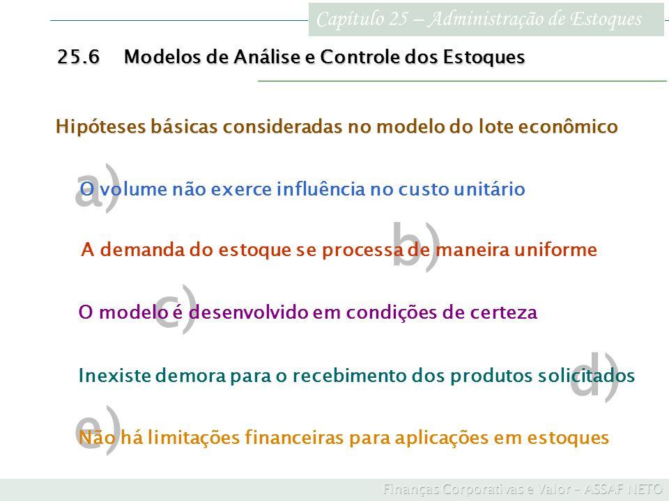 a) b) c) d) e) Capítulo 25 – Administração de Estoques