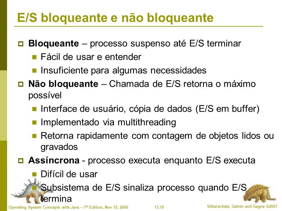 E/S bloqueante e não bloqueante