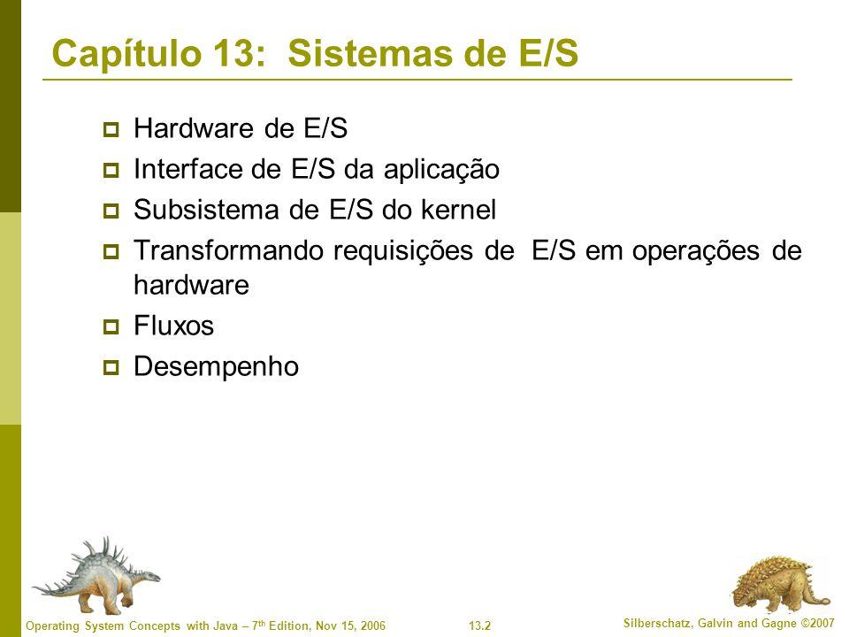 Capítulo 13: Sistemas de E/S