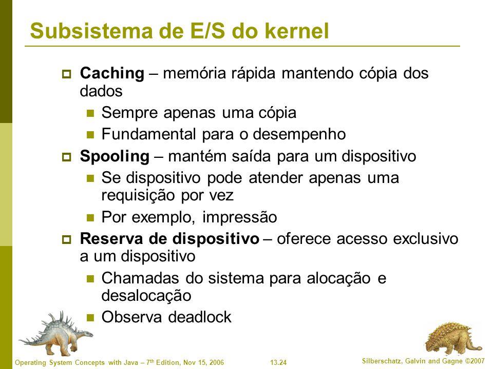 Subsistema de E/S do kernel