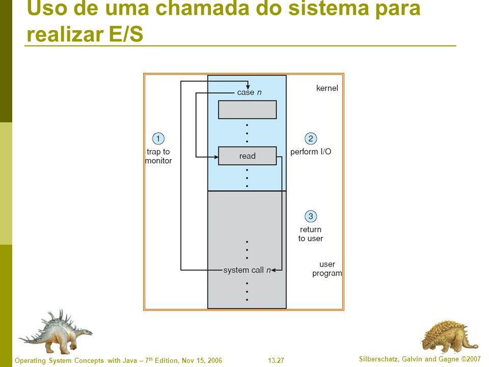 Uso de uma chamada do sistema para realizar E/S