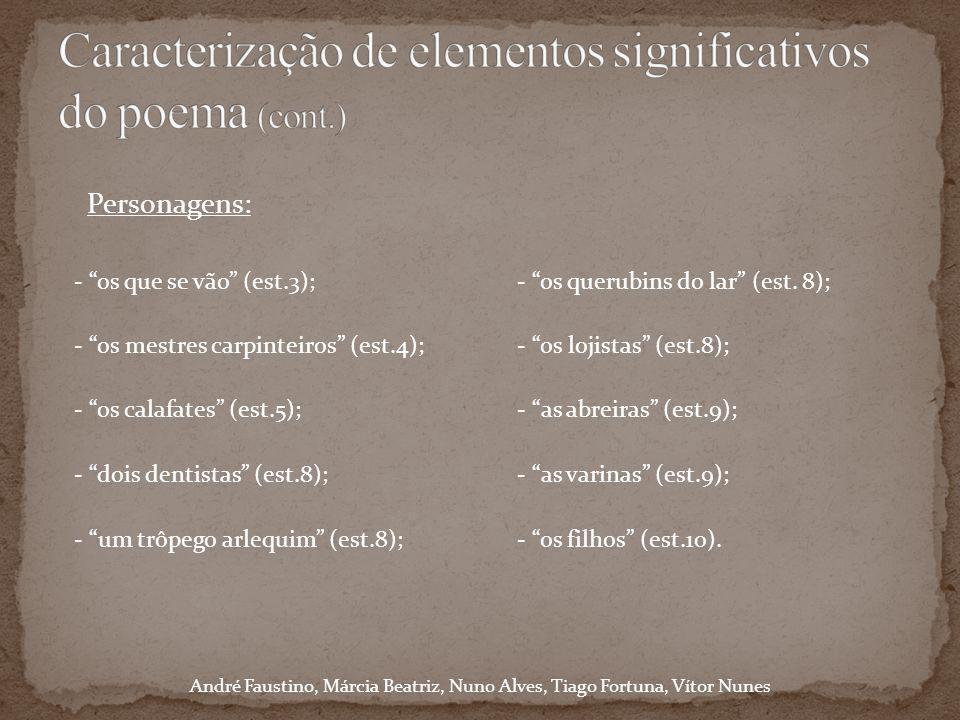 Caracterização de elementos significativos do poema (cont.)