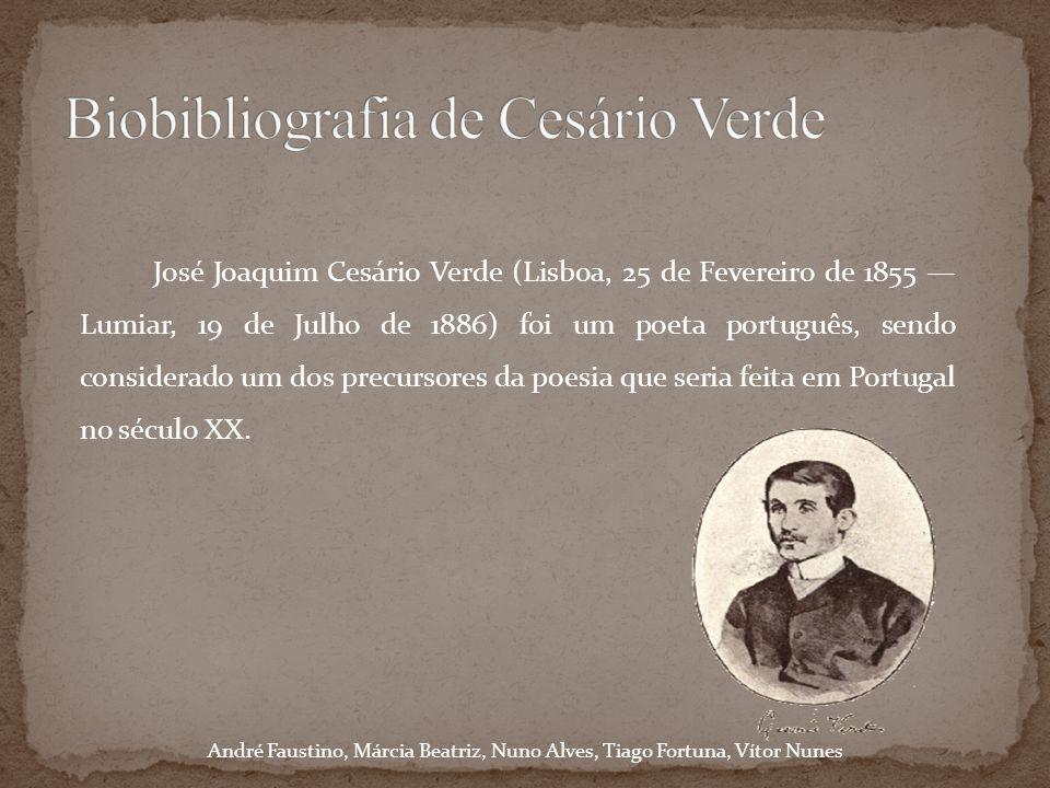 Biobibliografia de Cesário Verde