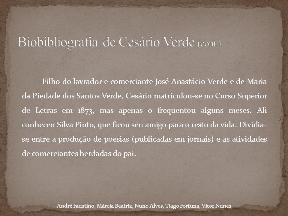 Biobibliografia de Cesário Verde (cont.)