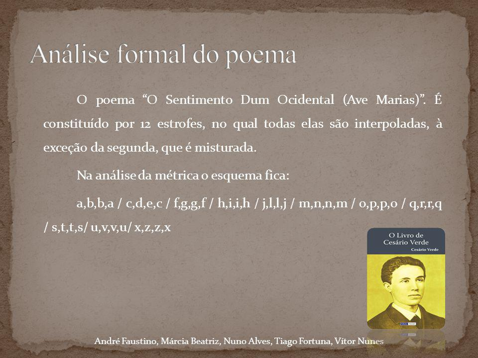 Análise formal do poema