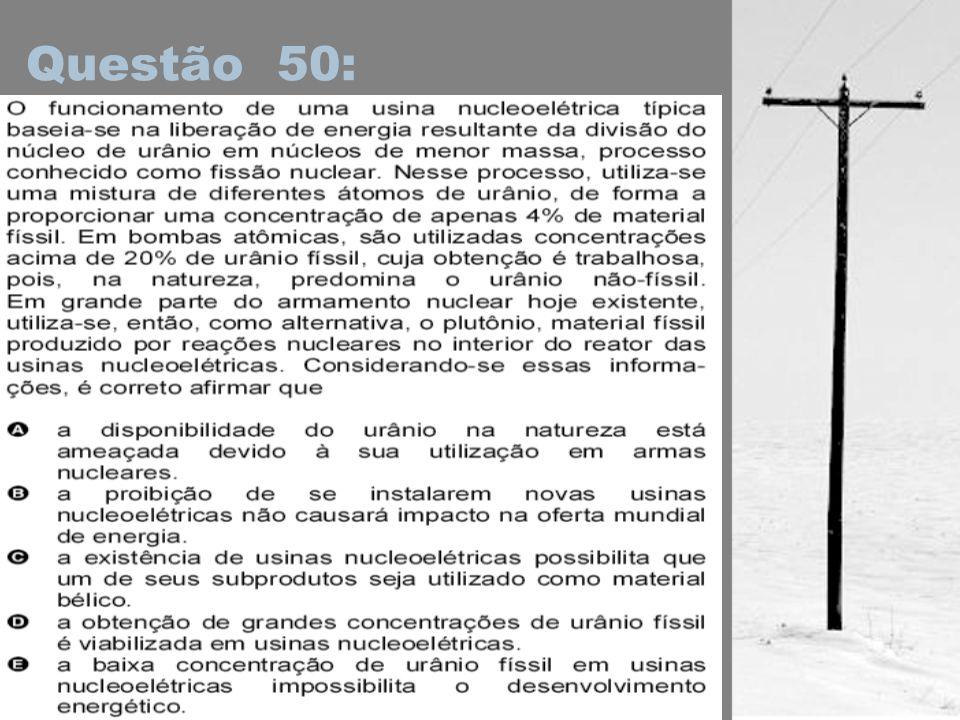 Questão 50: