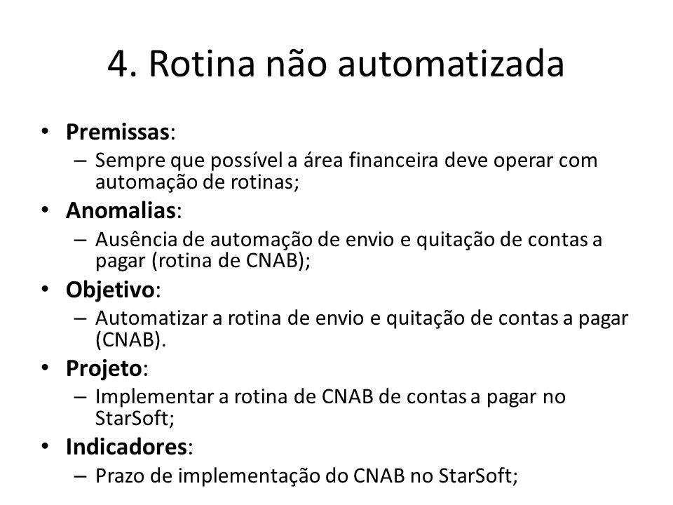 4. Rotina não automatizada