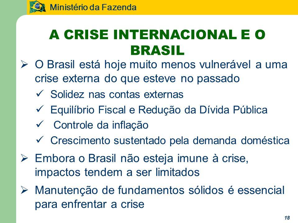 A CRISE INTERNACIONAL E O BRASIL
