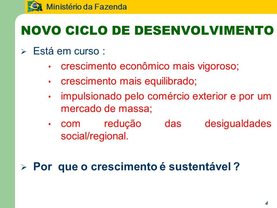 NOVO CICLO DE DESENVOLVIMENTO