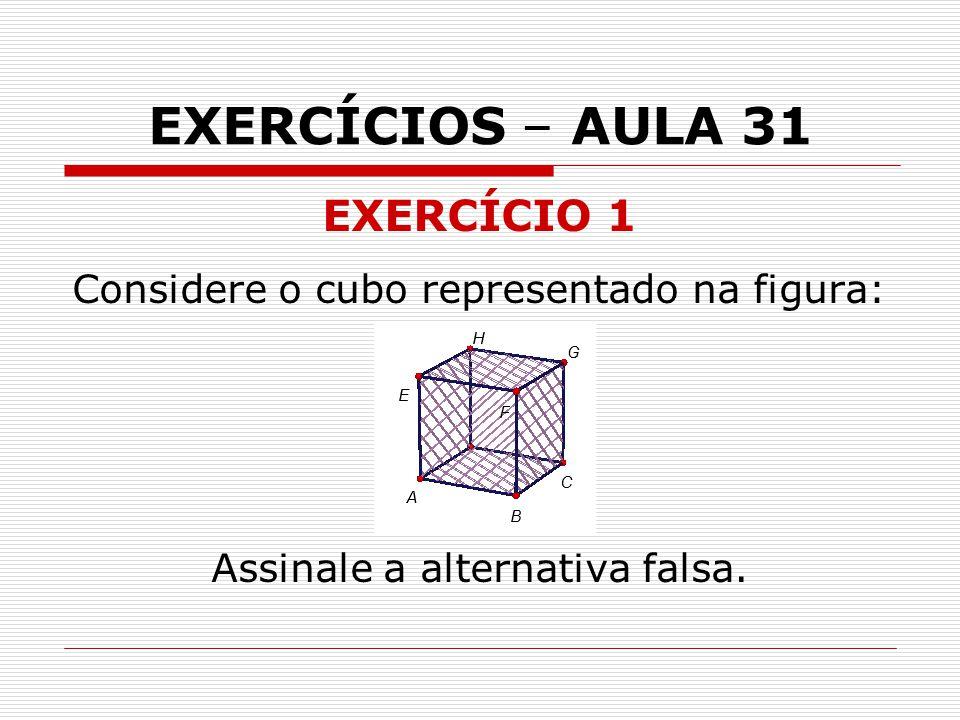 EXERCÍCIOS – AULA 31 EXERCÍCIO 1