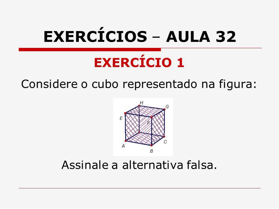 EXERCÍCIOS – AULA 32 EXERCÍCIO 1