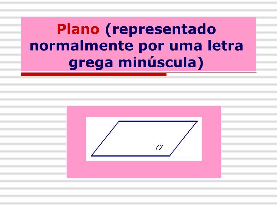 Plano (representado normalmente por uma letra grega minúscula)