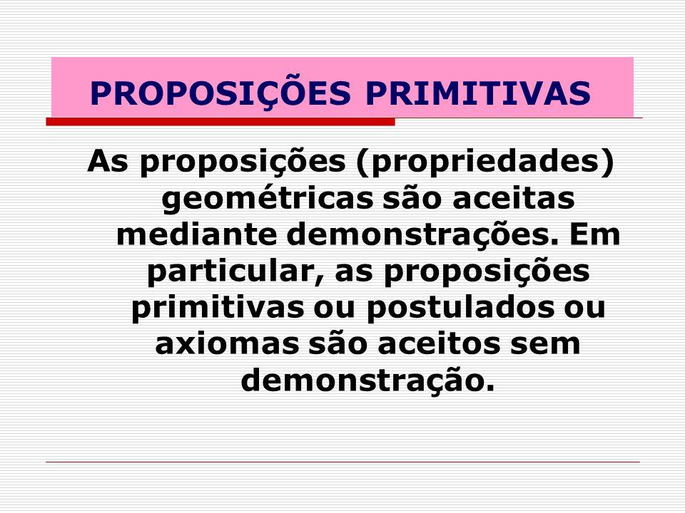 PROPOSIÇÕES PRIMITIVAS