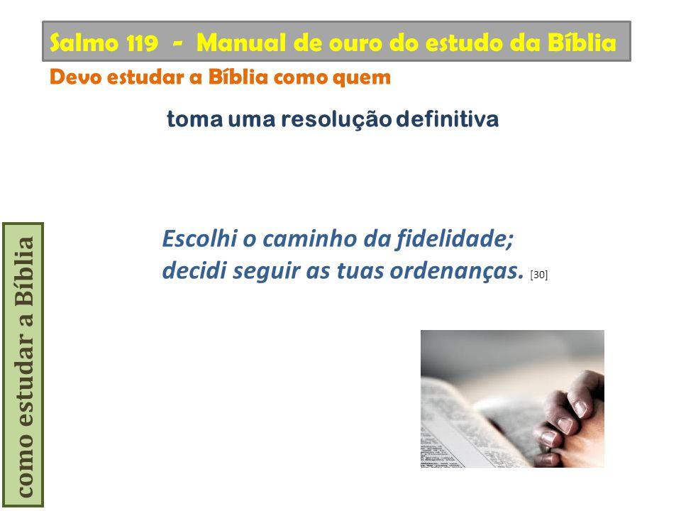 Salmo 119 - Manual de ouro do estudo da Bíblia