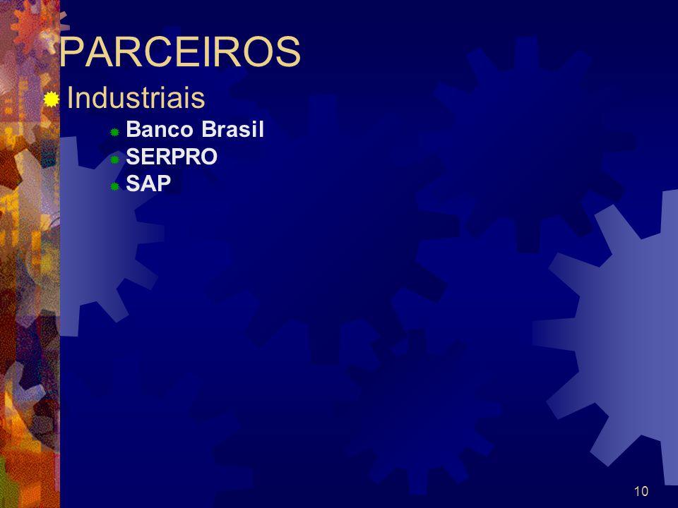 PARCEIROS Industriais Banco Brasil SERPRO SAP