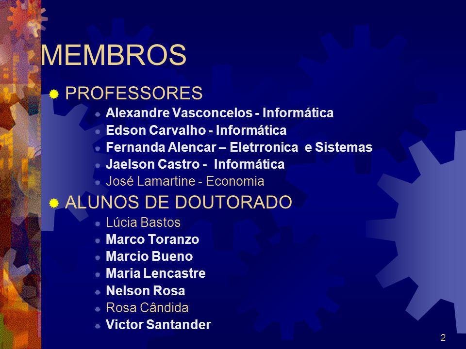 MEMBROS PROFESSORES ALUNOS DE DOUTORADO