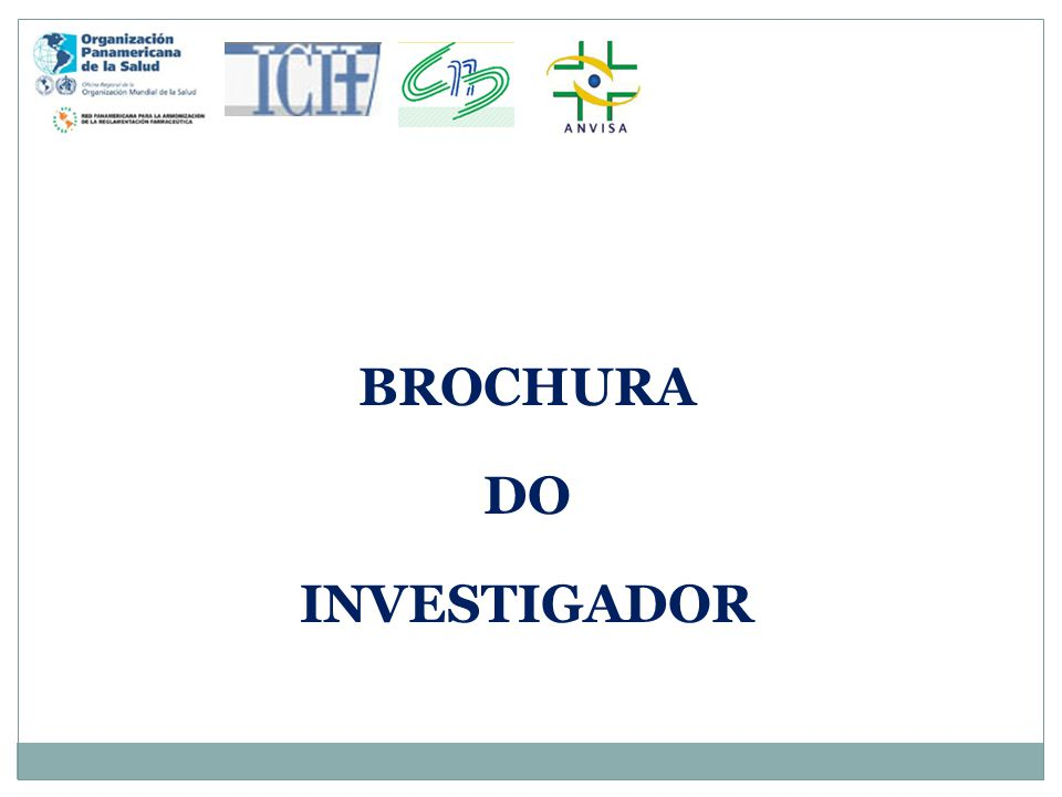 BROCHURA DO INVESTIGADOR