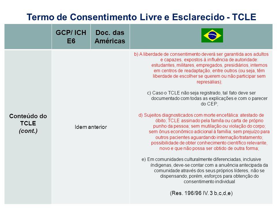 Termo de Consentimento Livre e Esclarecido - TCLE
