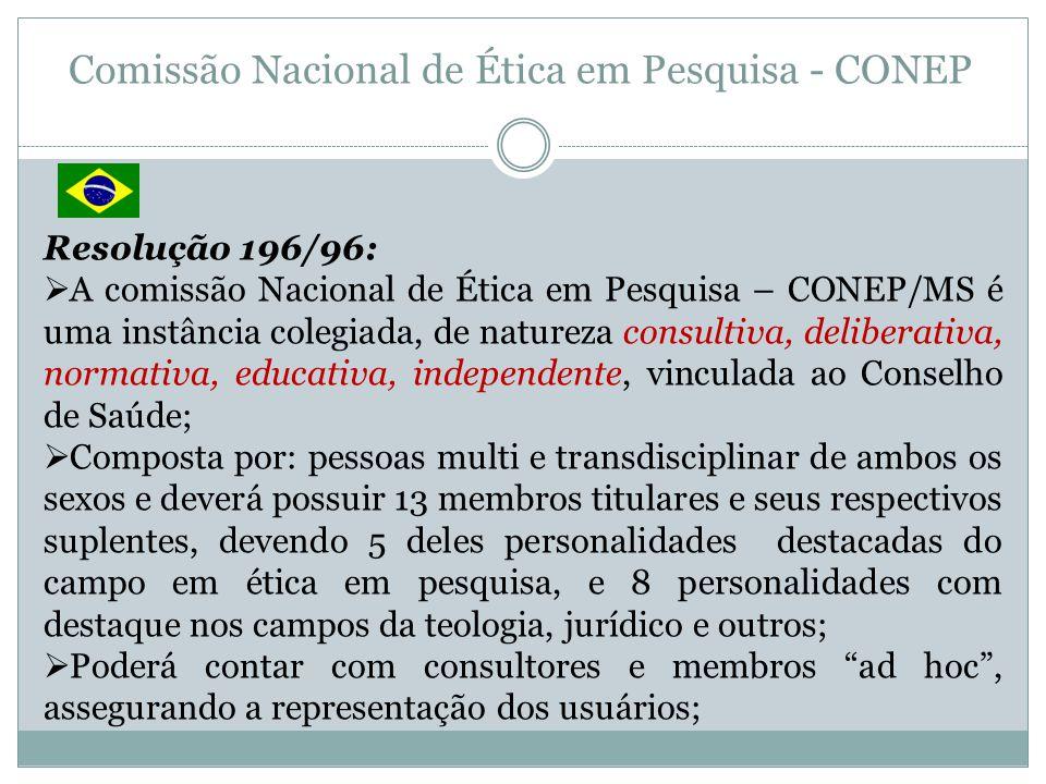 Comissão Nacional de Ética em Pesquisa - CONEP