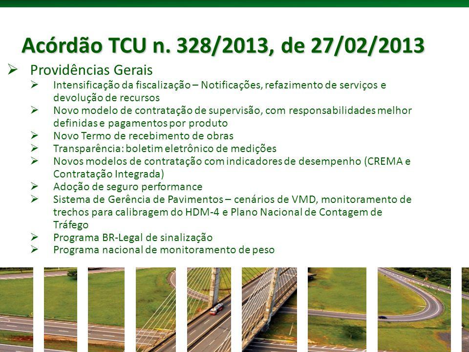 Acórdão TCU n. 328/2013, de 27/02/2013 Providências Gerais