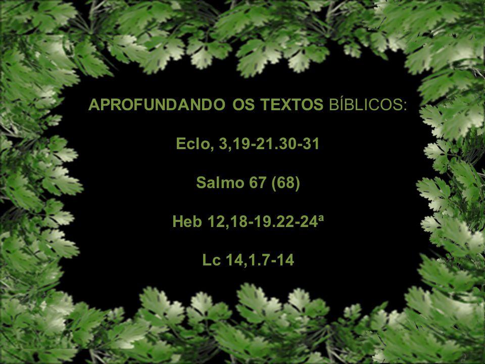 APROFUNDANDO OS TEXTOS BÍBLICOS: