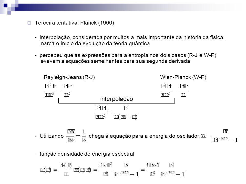 interpolação Terceira tentativa: Planck (1900)