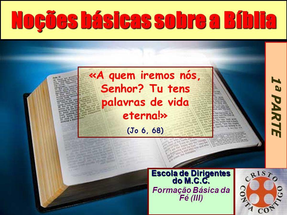 Noções básicas sobre a Bíblia