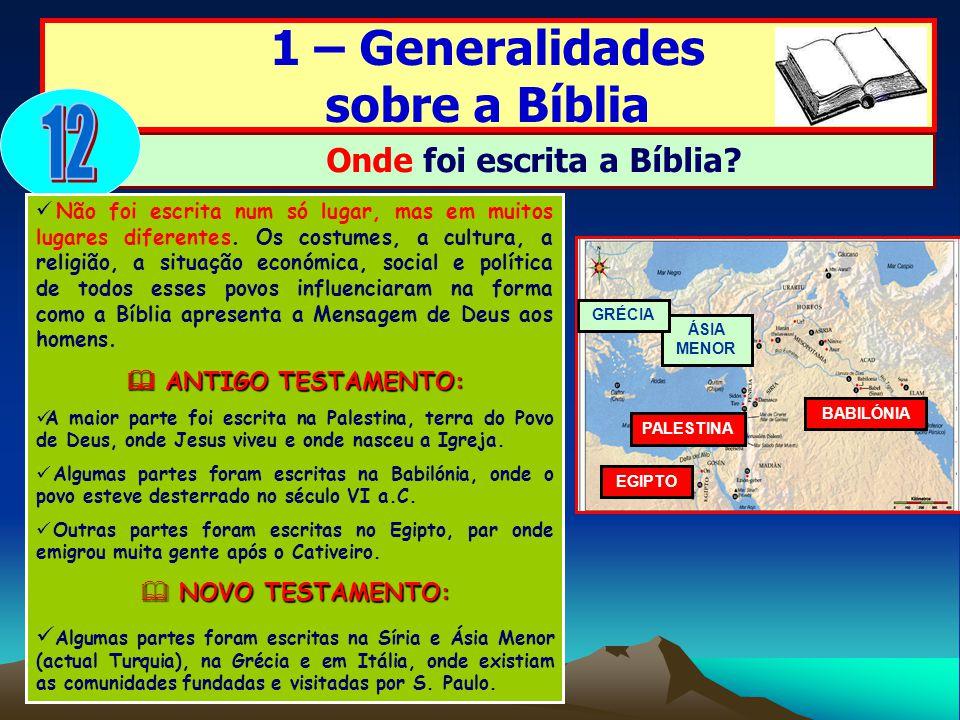 Onde foi escrita a Bíblia
