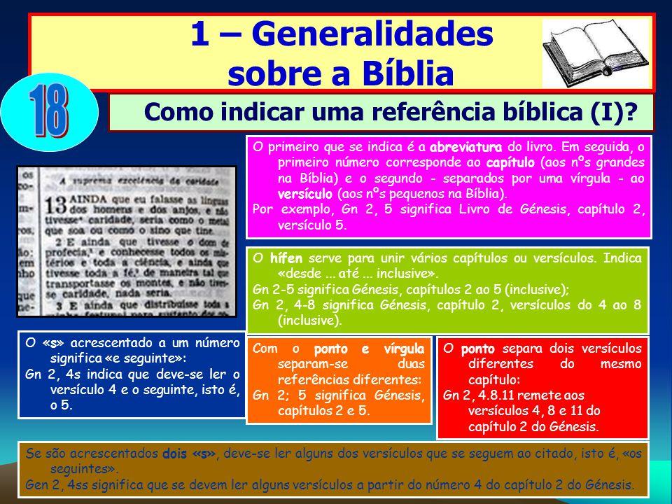 Como indicar uma referência bíblica (I)