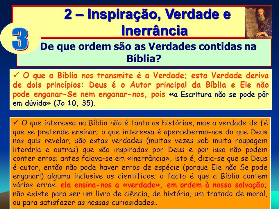 3 2 – Inspiração, Verdade e Inerrância