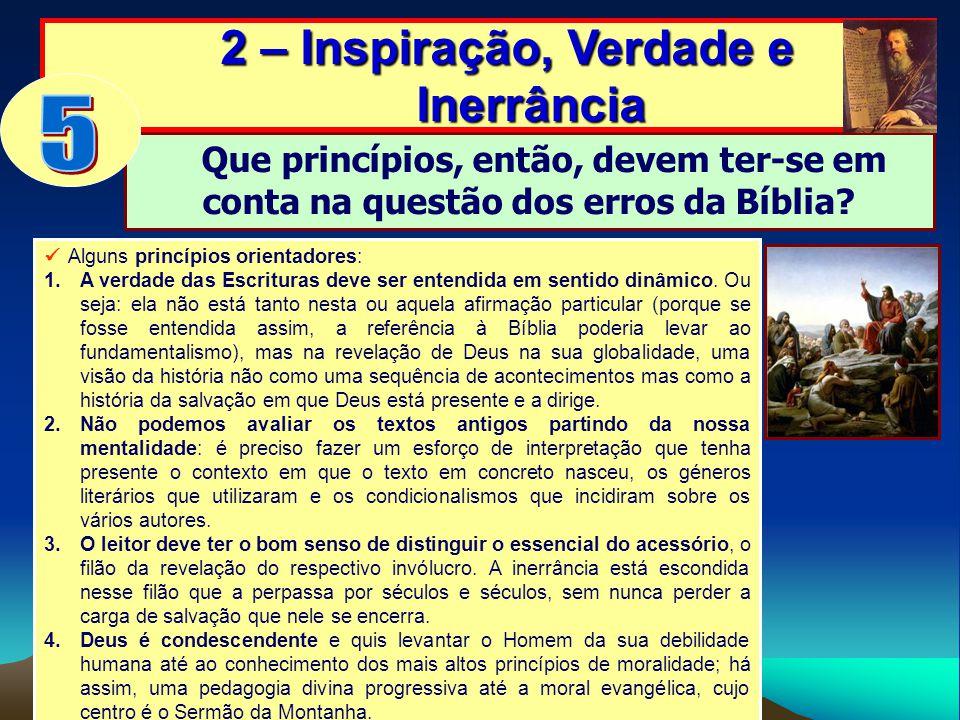 2 – Inspiração, Verdade e Inerrância