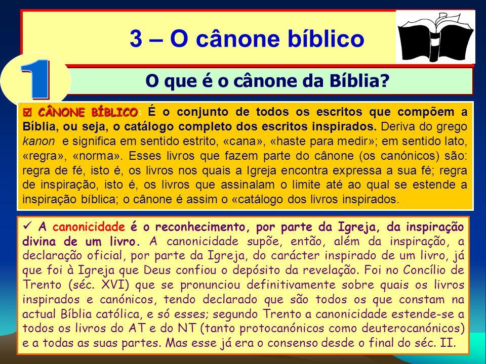O que é o cânone da Bíblia