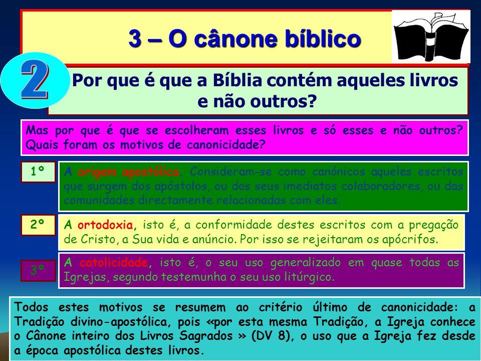 Por que é que a Bíblia contém aqueles livros e não outros