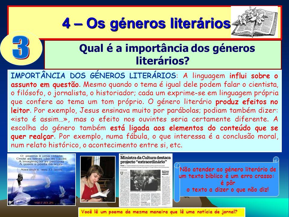 3 4 – Os géneros literários