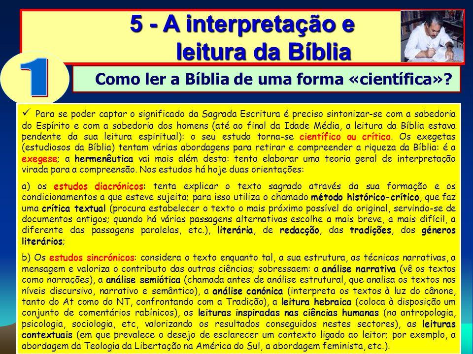 1 5 - A interpretação e leitura da Bíblia