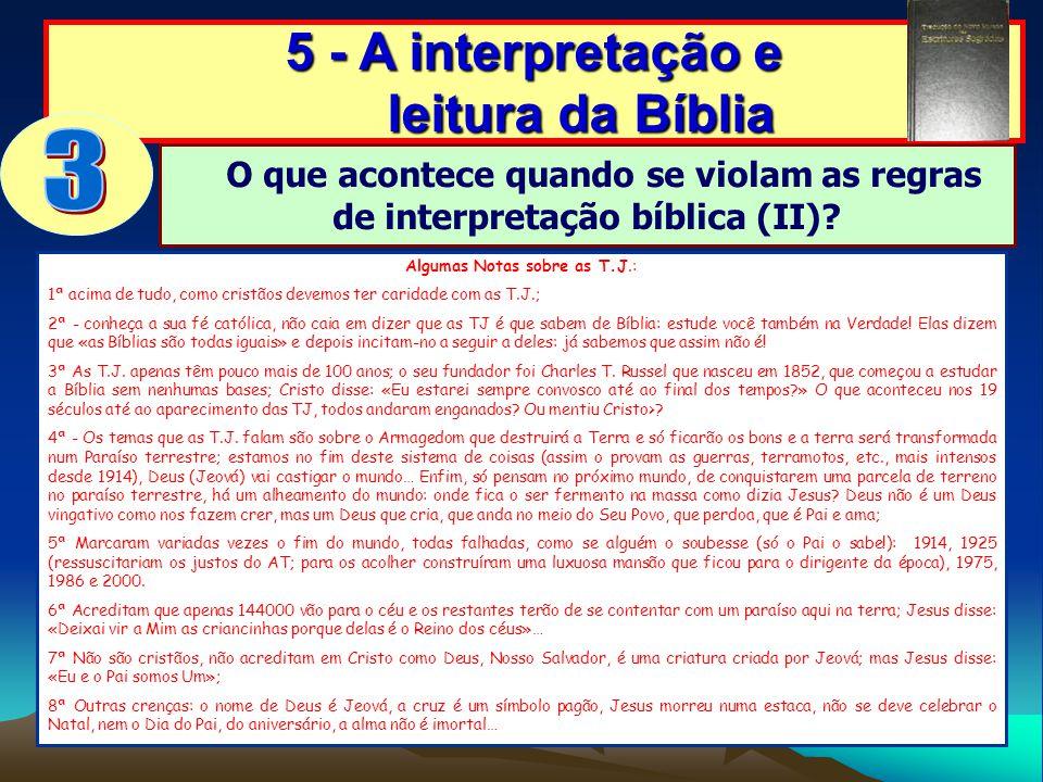 5 - A interpretação e leitura da Bíblia